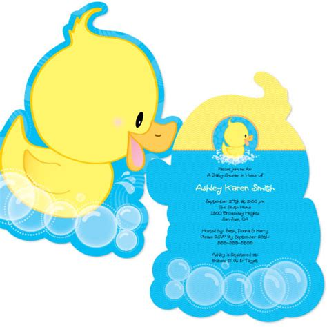duck baby shower ducky duck shaped baby shower invitations