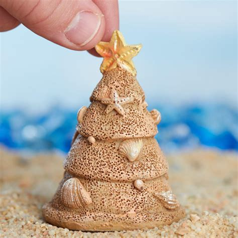 miniature beach sand christmas tree trees and toppers