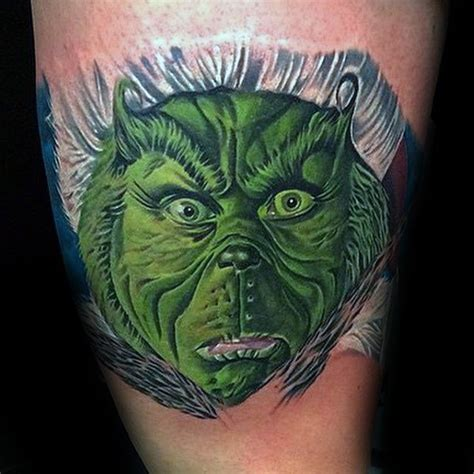 grinch tattoo designs 30 grinch tattoos for dr seuss design ideas