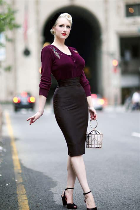 high time pencil skirt  black