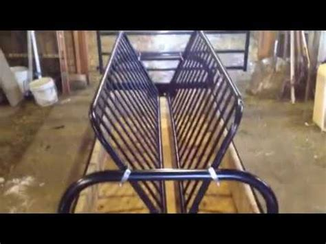 futon hay feeder diy hay feeder from a futon frame