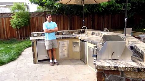 Kitchen Island Diy Plans Barbecue Island With Summerset Tr Grills Cupertino Ca