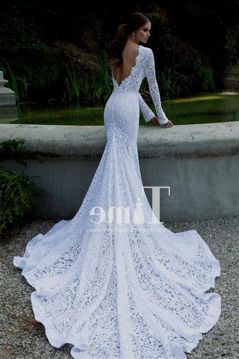 Longdres Lowo Mawar by Sleeve Low Back Wedding Dress Blomwedding
