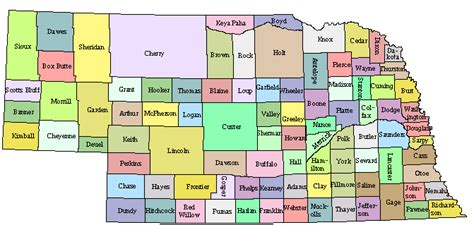 nebraska county map county map regional city