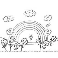 spring rainbow coloring page free printable rainbow coloring pages for kids