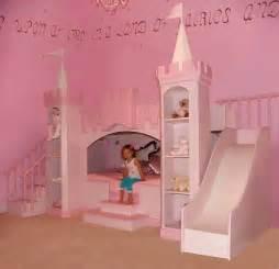 Princess bedroom girls castle bed slide amp staircase kids new york