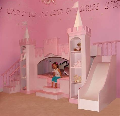 princess bedroom castle bed slide staircase