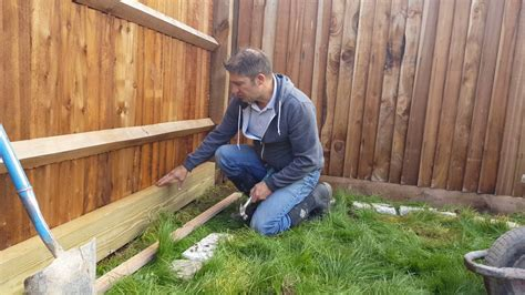 Wooden Sleeper by How To Build A Wooden Sleeper Raised Bed Part 1