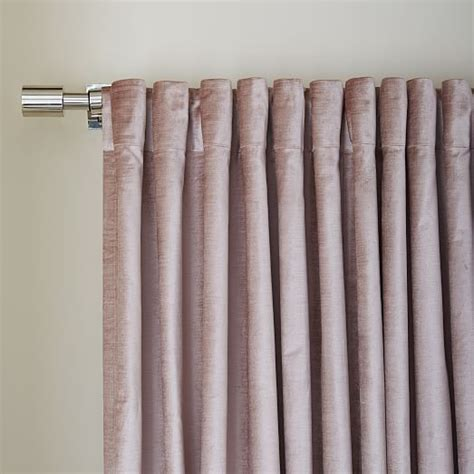 west elm velvet curtains luster velvet curtain dusty blush west elm home