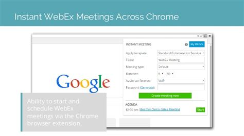 Esna Cloudlink For Cisco Google Apps Webex Scheduling Templates