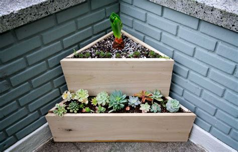 Triangular Planter by Plantgasm New Two Tier Low Water Triangle Planter