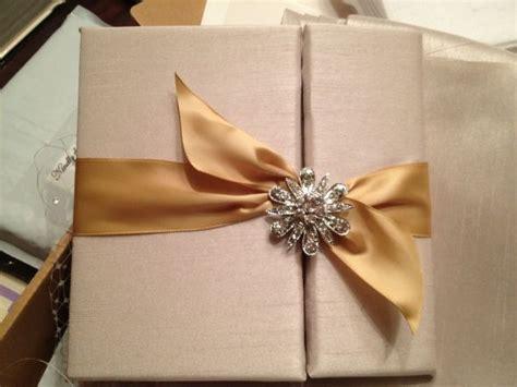 diy silk wedding invitations our diy silk fabric folder invitations weddingbee photo