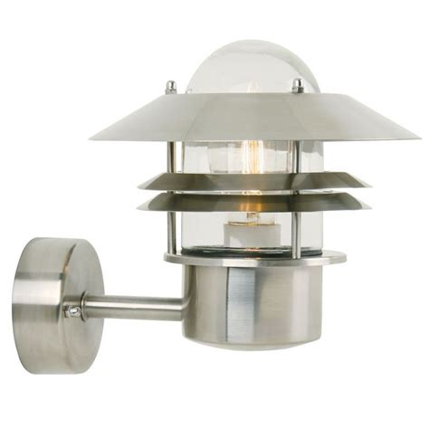 up outdoor wall lights nordlux blokhus up outdoor wall light stainless steel
