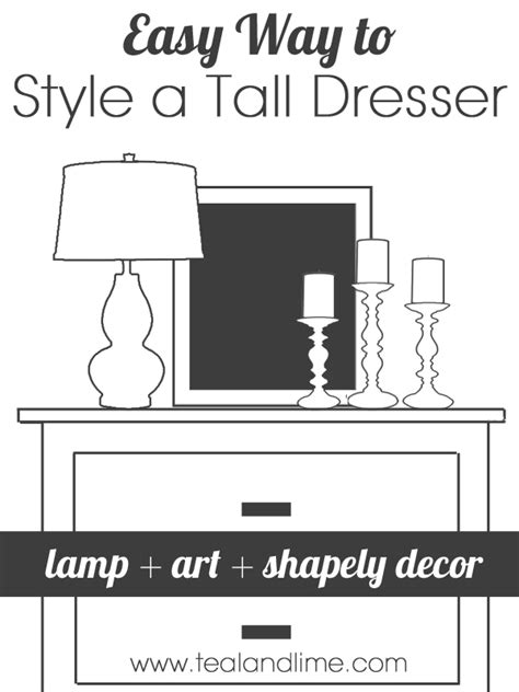 How To Style A Dresser Top by How To Style A Highboy Dresser