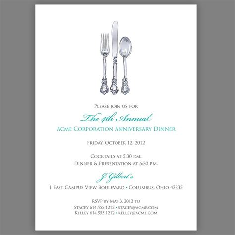 annual dinner invitation card template free printable dinner invitation templates printable
