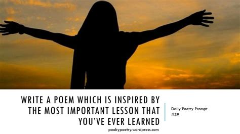Poetry prompt 39 life lesson pooky s poems