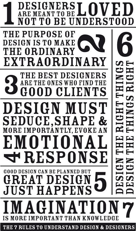 design poster rules the 7 rules to understand design and designers 187 curbly