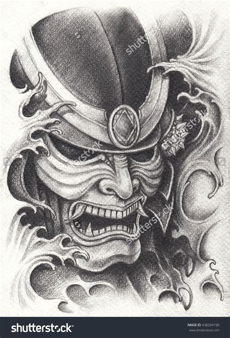 samurai warrior tattoo design samurai warrior design pencil drawing on paper