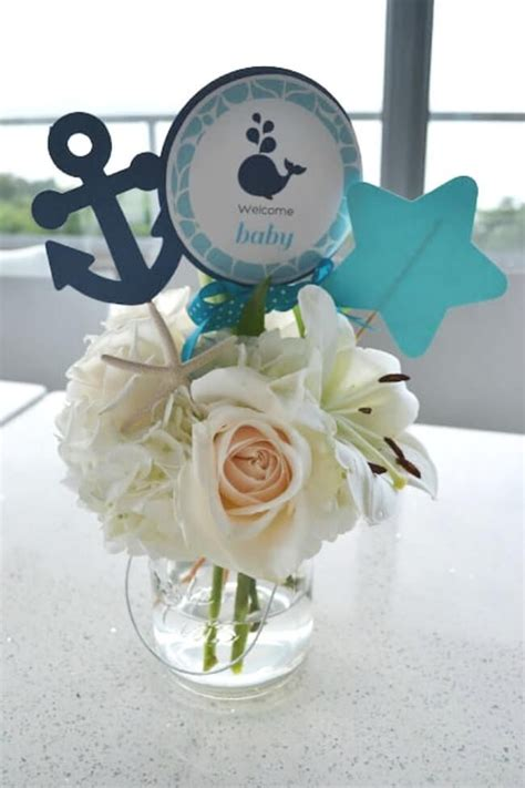 Baby Boy Shower Table Centerpieces by Baby Shower Table Centerpieces Boys Whale Baby Shower
