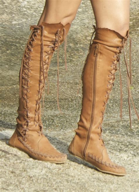 Handmade High - leather boots knee high leather boots for