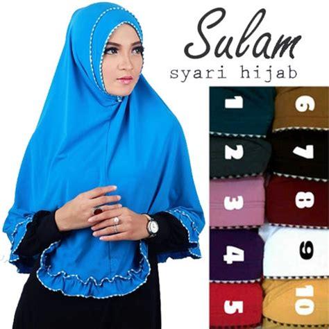 Gambar Jilbab Syar I model trend jilbab syar i sulam terbaru murah