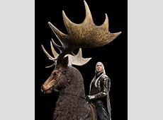 WETA The Hobbit – Thranduil on elk statue ... Irish Elk