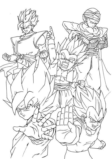 dragon ball team artes para colorir pinterest dragon