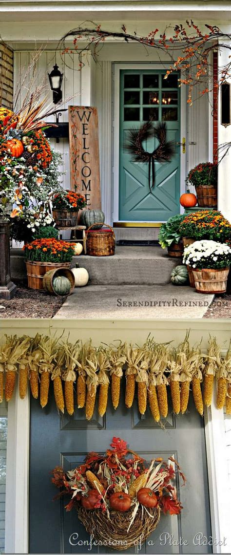 fall front door 25 splendid front door diy fall decorations a of