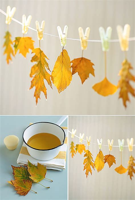 How To Make Wax Paper Leaves - 7 ways to turn your fall leaf collection into