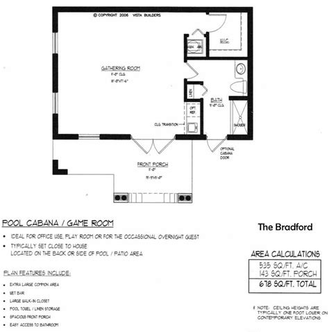 House Plans With A Pool by Bradford Pool House Floor Plan New House