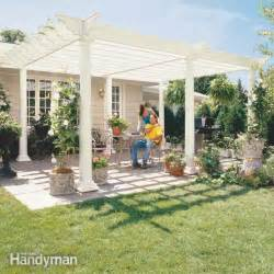How To Build A Arbor Pergola by How To Build A Pergola The Family Handyman