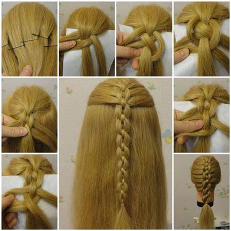 easiest type of diy hair braiding wonderful diy braided chain hairstyle