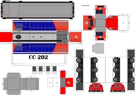 Pola Papercraft - pola papercraft kereta api indonesia
