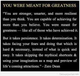 greatness quote zero dean