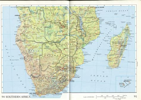 southern africa map map southern africa
