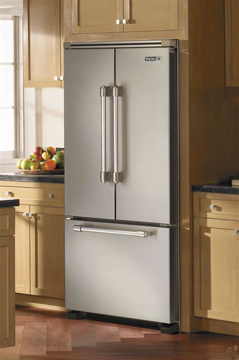Refrigerator Cabinet Depth by Viking Rddff236ss 21 8 Cu Ft Counter Depth Door Refrigerator With Spill Proof Glass