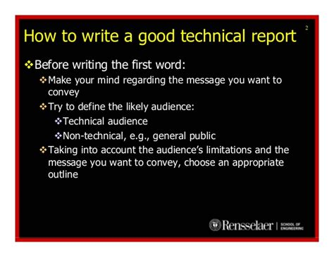 how to write a technical paper how to write a technical report hmftj