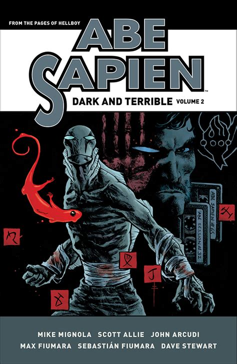 abe sapien dark and exclusive first look at max fiumara s covers for abe sapien dark and terrible vol 1 2