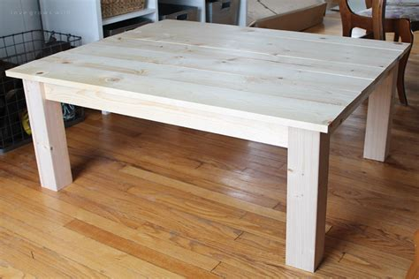 How To Build A Simple Coffee Table Diy Farmhouse Coffee Table Grows