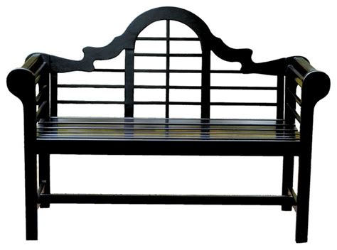 black wooden bench outdoor lacquer lutyen outdoor wooden bench in black