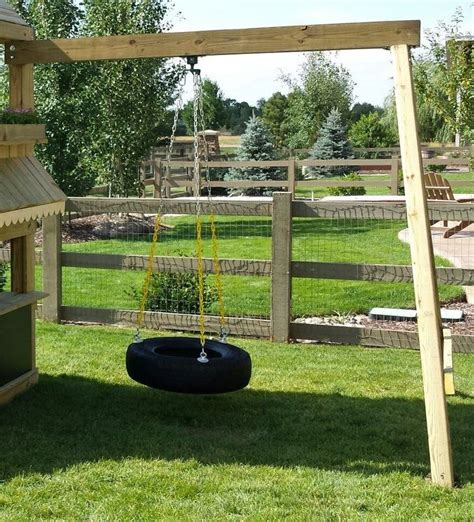 kids swing set out of landscape timbers tire swing 8 a frame swivel upgraded rubber tire swing