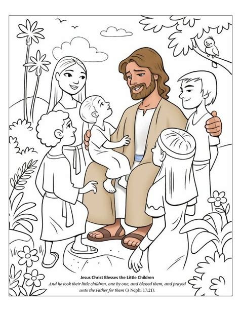 jesus blessing children clipart clipground