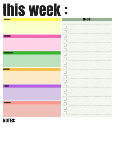 Daily To Do List Template Excel
