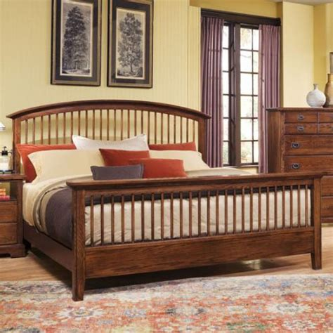 mission oak bedroom set bb48 group vaughan bassett furniture barnburner mission