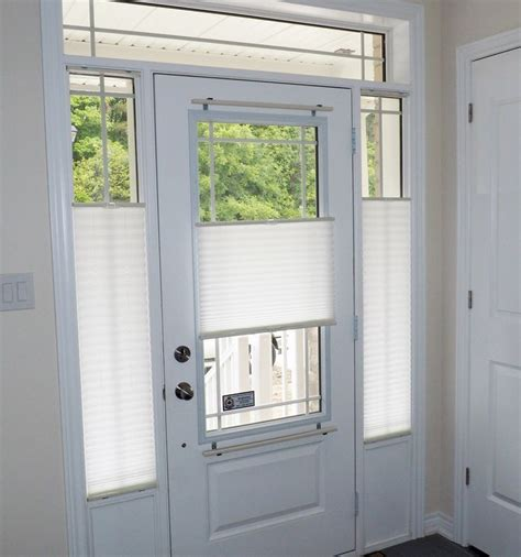 Window Covering For Front Door Pleated Shades Are An Economical Yet Highly Functional Window Covering Solution For Door Glass