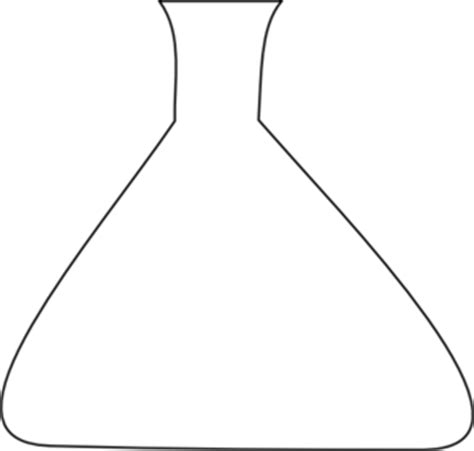 blank erlenmeyer flask clip art at clker com vector clip