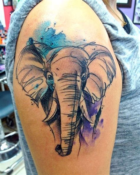 colorful elephant tattoo 106 best elephant ideas images on