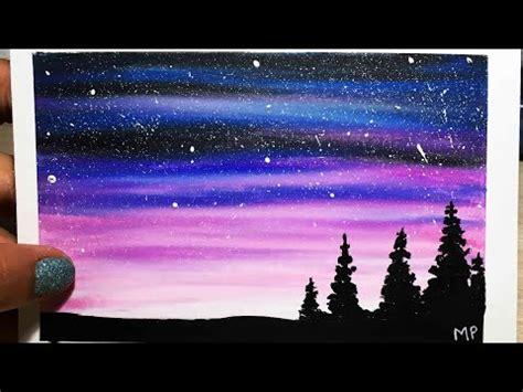 imagenes de paisajes kawaii como pintar un paisaje estrellado f 193 cil tizas pastel