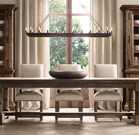 Rectangular Dining Room Chandelier Camino Rectangular Chandelier 52 Quot Forged Iron Furnishings Rectangular