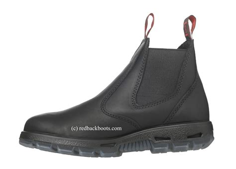 most comfortable law enforcement boots redback slip on black leather boots steel toe
